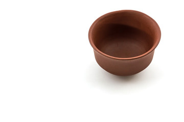 Ceramic brown dishware.