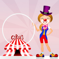 Clown in the circo