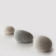 Stones - grey background