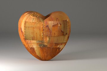 Rusty old heart.