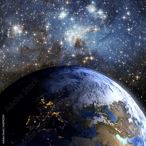 canvas print picture Earth in space.