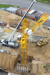 Build of tower crane, excavator and other equipment