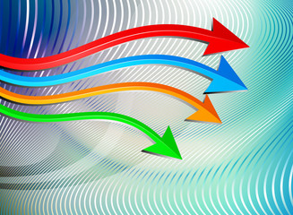 Shiny arrows graph moving business concepts background