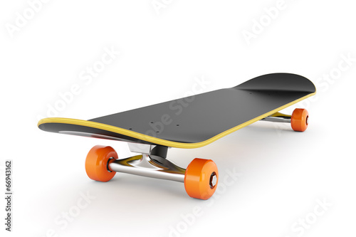 canvas print picture Skateboard isolated on white background