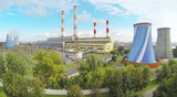 Central Heating and Power Plant at sunny day