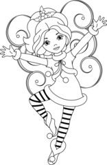 fairy Christmas coloring page