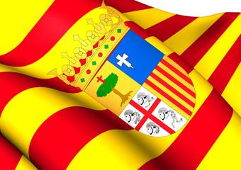 Flag of Aragon, Spain.