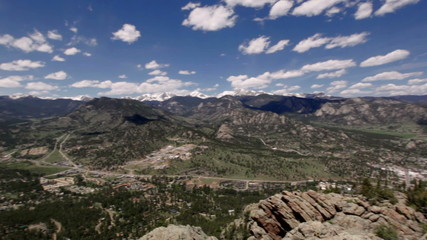 Panoramic view of Rocky mountains, Colorado, USA