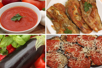 Gratin d'Aubergines Sauce tomate