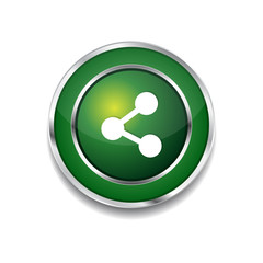 Social Green Vector Icon Button