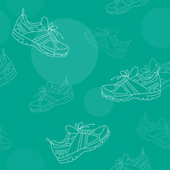 Sneakers Seamless Pattern