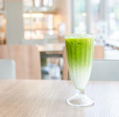 Iced green tea latte