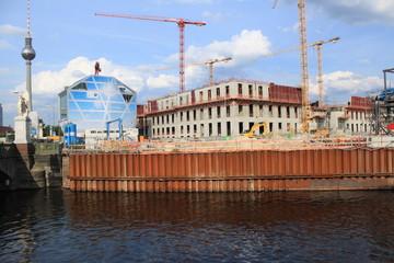 Schlossbaustelle im Herzen Berlin`s im Juni 2014