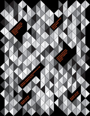 Abstract, Triangle geometric backgrounds layout, Design Template