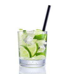 Mojito Cocktail on isolated white