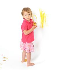 dziecko malujące