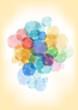 Watercolor splatters background