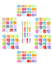 Vector format of colored sticky notes set