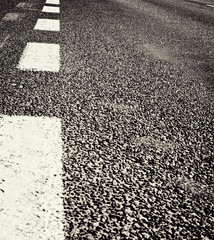 Asphalt road texture with stripes
