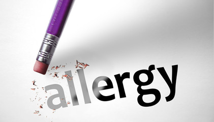 Eraser deleting the word Allergy