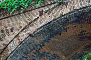 Old brick railroad bridge