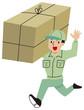 荷物を運ぶ作業マン