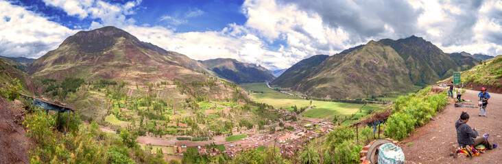 URUBAMBA, PERU - DECEMBER 09: Panoramic view of Urubamba inca Sa