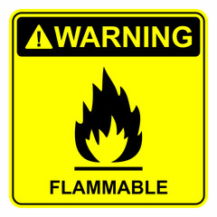 Flammable sign
