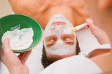 Facial beauty treatment by an aesthetician poster