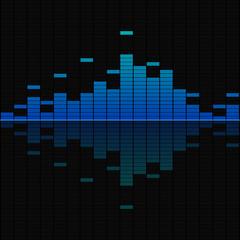 Blue musical equalizer