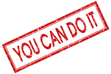 You can do it red square grungy stamp