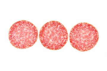 Slices of salami.