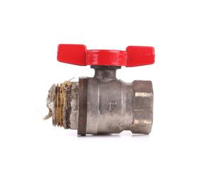 Water valve close up.