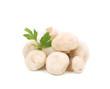 Brown champignon mushrooms. Close up.