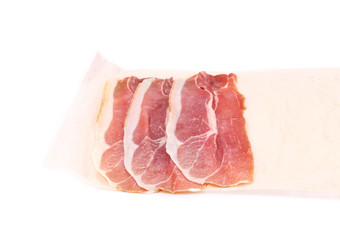 Slices of Delicious Prosciutto.