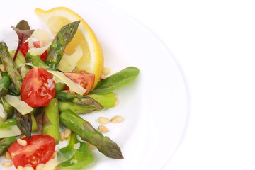 Salad with asparagus.