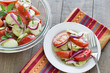 Classic summer  tomato and cucumber salad