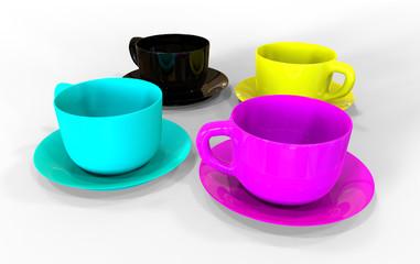 CMYK cups