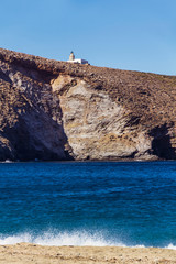 Lighthouse in Achla beach, Andros Greece