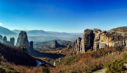 Meteora Greece rock geological formations