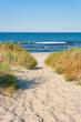 Leinwandbild Motiv Beach access