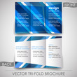Business tri-fold flyer template, brochure or cover design