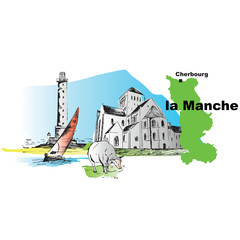 Manche Abbaye Lassay Phare Hague mouton departement 3
