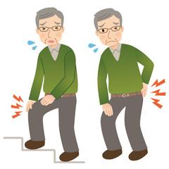 シニア男性 膝の痛み 腰痛
