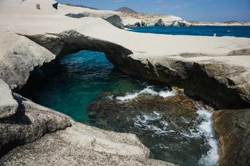 Moonscape beach Sarakiniko, Milos, Greece