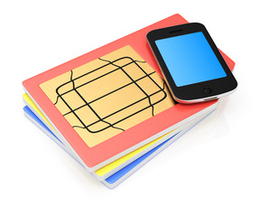 SIM cards and smartphone