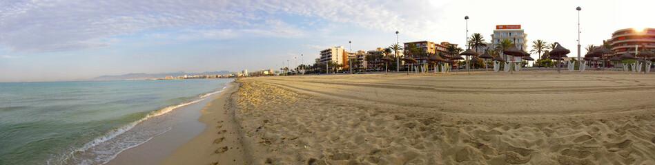 Panorama spiaggia Palma de Mallorca, Can Pastillo