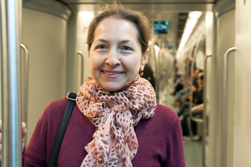 woman  in  subway  .
