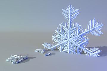 Surreal broken snowflake.