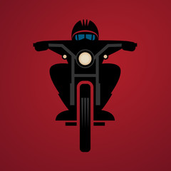 Abstract Biker sign, vector illustration